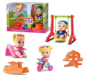 Super Playground Little Dolls - Gêmeos - Divertoys