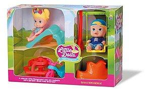 Super Playground Little Dolls - Gêmeos - Divertoys