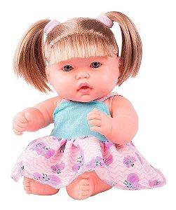 Boneca Neneca Com Cabelo - 40cm - Supertoys