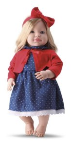 Boneca Francesa Loise C/ Cabelo - 46cm - Bambola Binquedos