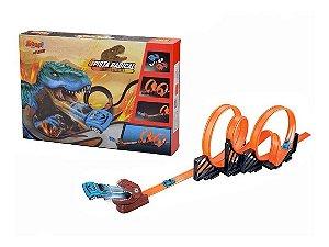 Pista Radical Tiranossauro Rex - C/ 2 Carrinhos - Zoop Toys
