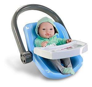 Bebê Conforto C/ Boneca - Bebezinho Real Menino - Roma