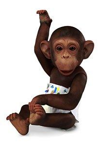 Boneco Caco Macaco Vinil - C/ Acessórios - 33cm Altura - Omg