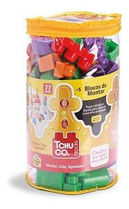Tchuco Blocos De Montar Saco - C/ 77 Peças - Samba Toys