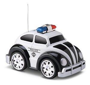 Fusca Polícia - C/ Controle Remoto E Luz - Samba Toys