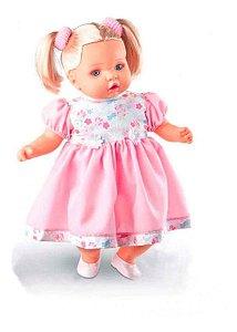 Boneca Angelina - Loira - Fala 62 Frases - Milk Brinquedos