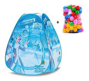 Toca Barraca Princesas Snow + 50 Bolinhas - Samba Toys