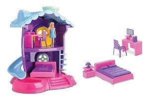 Casinha De Boneca Judy - Quarto - C/ Acessórios - Samba Toys