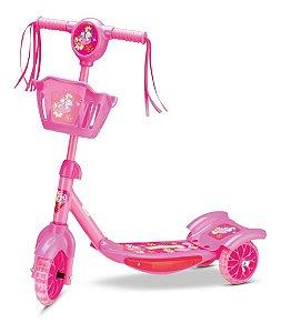 Patinete Pônei Rosa - Regulável - Suporta 35kg - Samba Toys