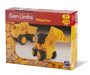 Sem Limite Máquinas - Blocos de Montar - 204 peças - Roma Brinquedos