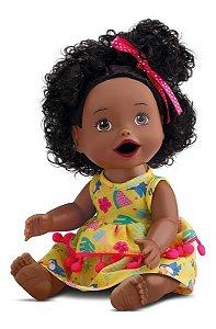 Boneca My Little - Primeira Papinha - Negra - Divertoys