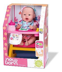 Boneca Primeira Papinha New Born - C/ Cadeirão  - Divertoys