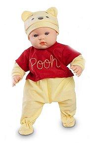 Boneco Coleção Ursinho Pooh - C/ Gorro - Roma Brinquedos