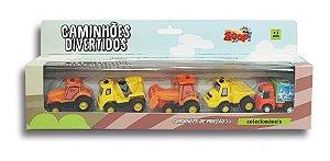 Coleção Caminhões Mini Racing C/ Fricção 5 un. - Zoop Toys