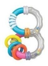 Chocalho e Mordedor Colorido - P/ Bebês - Zoop Toys