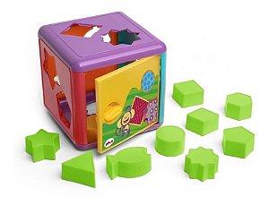 Cubo De Encaixes - Brinquedo Infantil C/ 10 Peças - Elka