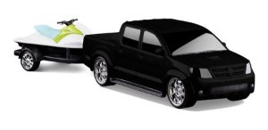 Carrinho Infantil Pick-up Vision + Jet Ski - Roma Brinquedos
