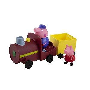 Vovô Pig Maquinista c/ Trem Trenzinho Peppa Pig - Sunny