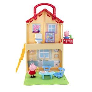 Casa da Peppa Pig Maletinha C/ 2 Andares e 02 figuras- Sunny