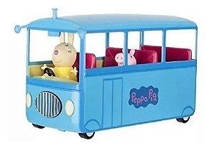 Ônibus Escolar da Peppa Pig C/ Som + 2 Personagens - Sunny