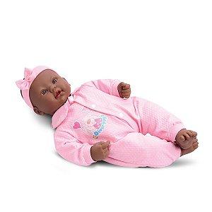 Boneca Bebês Coleção - Sons Bebê - Negra - 44cm - Divertoys