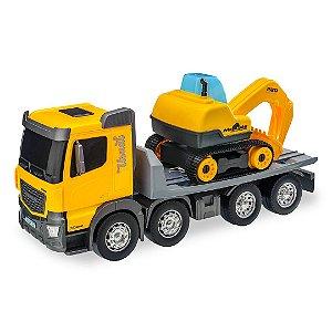 Caminhão Plataforma Construction Machines c/ Trator - Usual