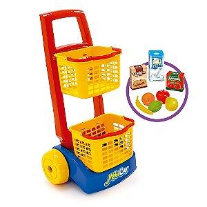 Carrinho de Compras Infantil C/Acessórios - Mobi Car - Usual