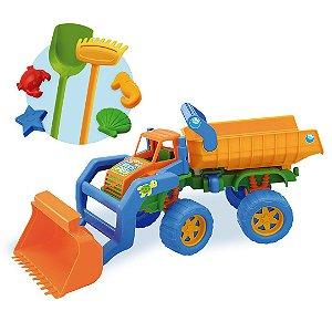 Caminhão Carregadeira p/ Praia Beach Play - 55cm - Usual