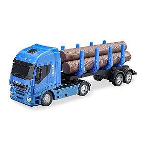 Caminhão Carreta Iveco Hiway Tora C/ Carga - 40cm - Usual