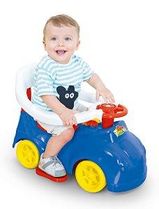 Carrinho Andador Azul C/ Empurrador e Porta Treco - Cotiplás