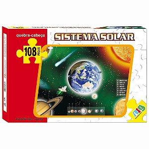Quebra Cabeça Sistema Solar - C/ 108 Peças - Nig