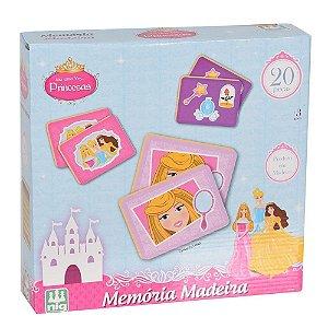 Jogo Da Memória Princesas - 20 peças em Madeira - Nig