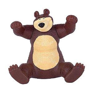 Boneco Urso Vinil 18cm- Masha e o Urso- P/ Celular- Cotiplás