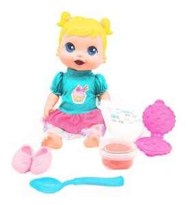 Boneca Babys Collection Come E Faz Caquinha - Supertoys