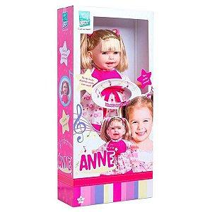 Boneca Anne Cante Comigo - 42cm - Canta/Recita - Supertoys