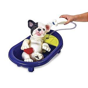 Bebê Pet Filhotinho Reborn - Hora do Banho - Bulldog - Roma