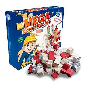Mega Construções - Blocos de Madeira - 76 Peças - P e F