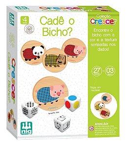 Jogo Didático - Cadê o Bicho - C/ 27 Peças Em Madeira - Nig