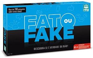 Jogo Fato Ou Fake - Tabuleiro - 120 Cartas - Nig