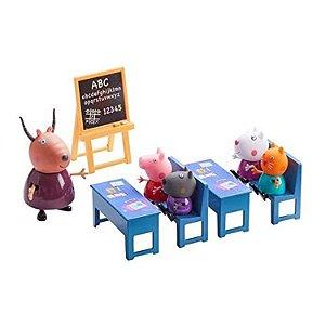 Peppa Pig Escolinha Escola c/ 5 Figuras Articuladas - Sunny