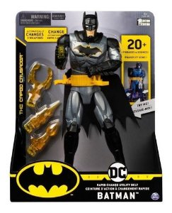 Boneco Batman - Figura de Luxo - C/ Som e Luz - 30cm - Sunny
