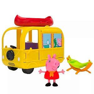 Peppa Pig - Playset Van Para Acampar + Figura Peppa -  Sunny
