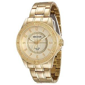 Relógio Feminino Analógico Seculus 28761LPSVDA1– Dourado