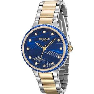 Relógio Seculus  Feminino Analógico  Fashion 13015lpsvbs3