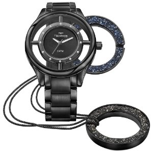 Relógio Technos Feminino Elegance Crystal GL30FM/4P Preto