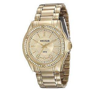 Relógio Feminino Seculus Dourado Analógico 28859LPSVDS1