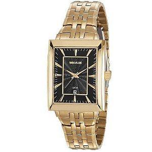 Relógio masculino dourado seculus classic 20608GPSVDA1