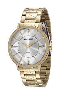 Relógio Seculus Feminino Dourado 23580lpsvds1