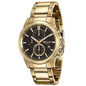Relógio Masculino Analógico Seculus 13023gpsvda1 - Dourado