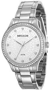 Relógio Feminino Analógico Seculus 23593L0SVNS2 - Cromado.